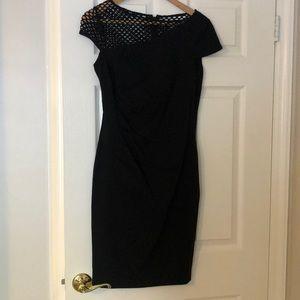 Calvin Klein Black Asymmetrical Size 8 Dress